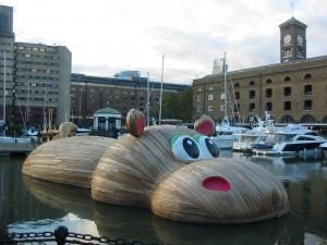 hippo in dock